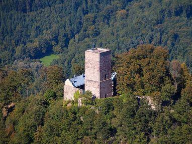 Yburg bei Baden-Baden von oben
