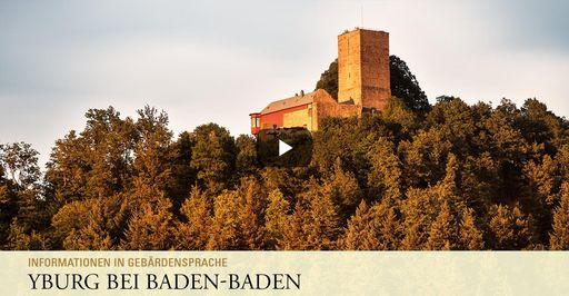 """Startbildschirm des Filmes """"Yburg bei Baden- Baden: Informationen in Gebärdensprache"""""""