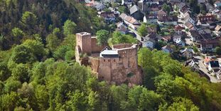 Château-fort d'Alt-Eberstein, vue aérienne