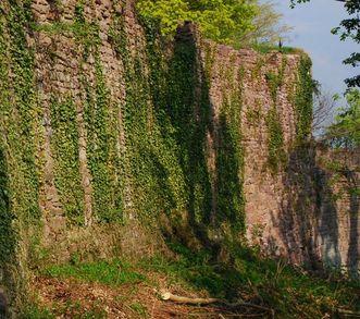 Aussenmauer der Yburg