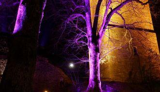 Die Beleuchtung der Yburg bei Nacht