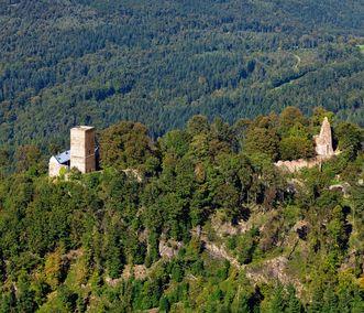 Château d'Yburg à Baden-Baden; l'image: Staatliche Schlösser und Gärten Baden-Württemberg, Achim Mende