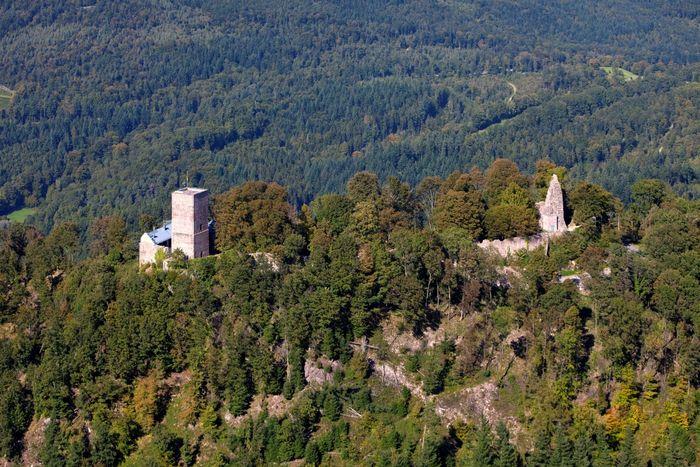 Luftaufnahme der Yburg
